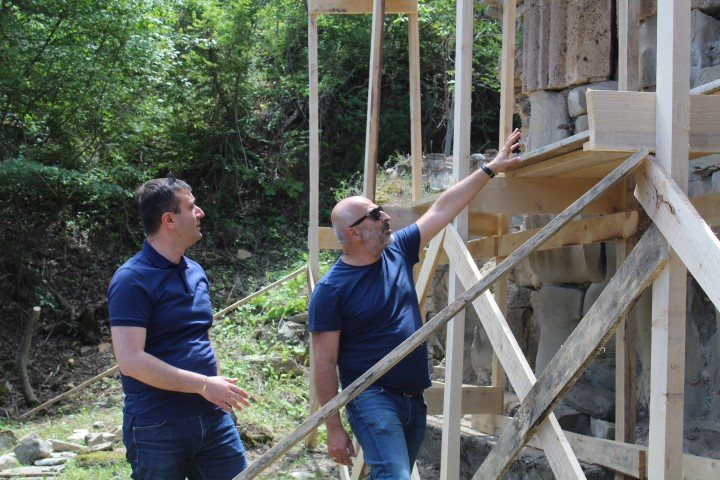 Restoration-rehabilitation of Historical Monuments  is being Implemented in Ateni Gorge