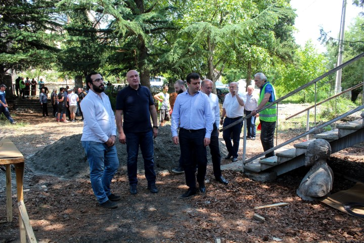 Infrastructural works are going on in the villages of Gori Municipality