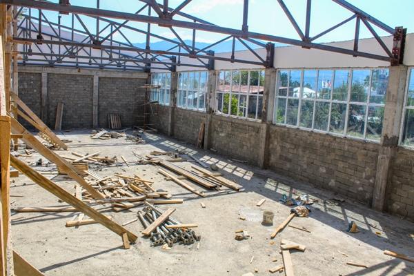 ხაშურში სპორტკომპლექსის მშენებლობა დასასრულს უახლოვდება