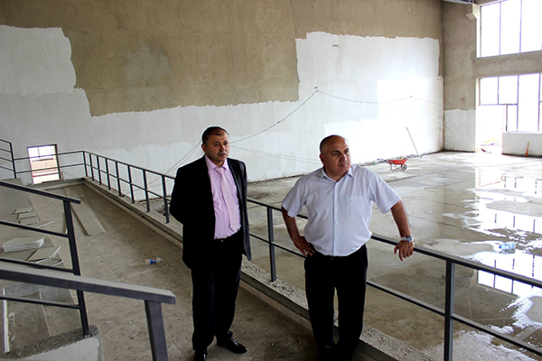 Ioseb Okromelidze attended Sport-Complex construction process in Kaspi