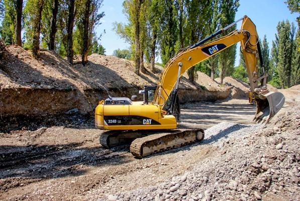 კასპის მუნიციპალიტეტში წყალსადენის მაგისტრალის მშენებლობა მიმდინარეობს