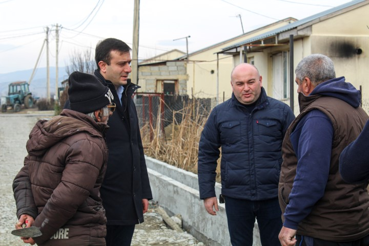 Infrastructure projects are being implemented in Khurvaleti IDP settlement