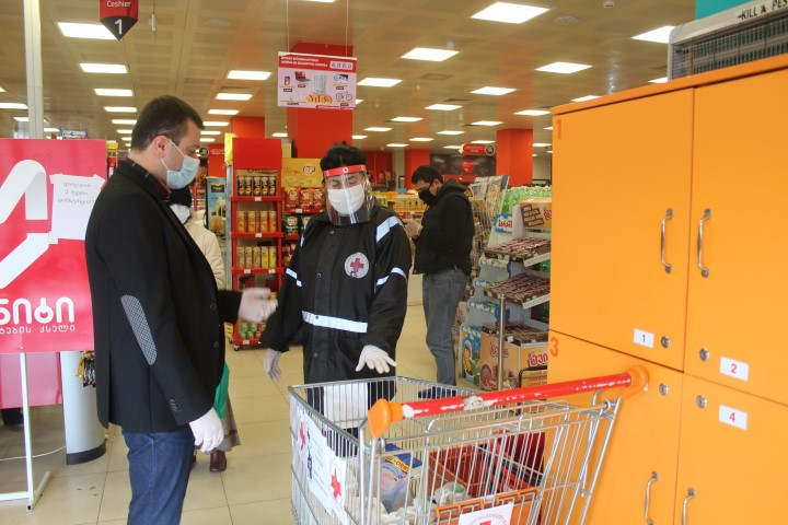 Supermarkets in Gori joined the campaign to help single elderly people and socially vulnerable families