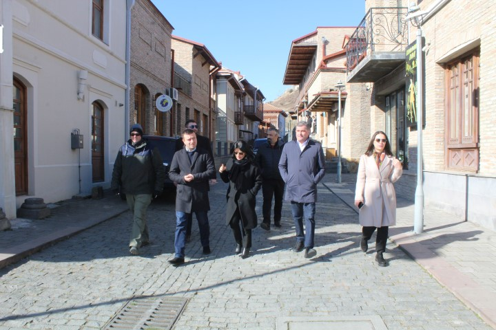 USAID Zrda Representatives inspected educational and tourist facilities in Gori Municipality