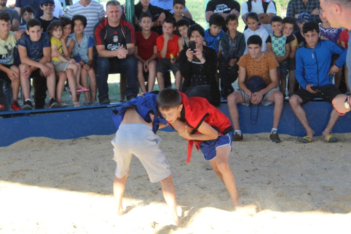 Georgian Traditional Wrestling Tournament was held in Verkhvebi IDP Settlement