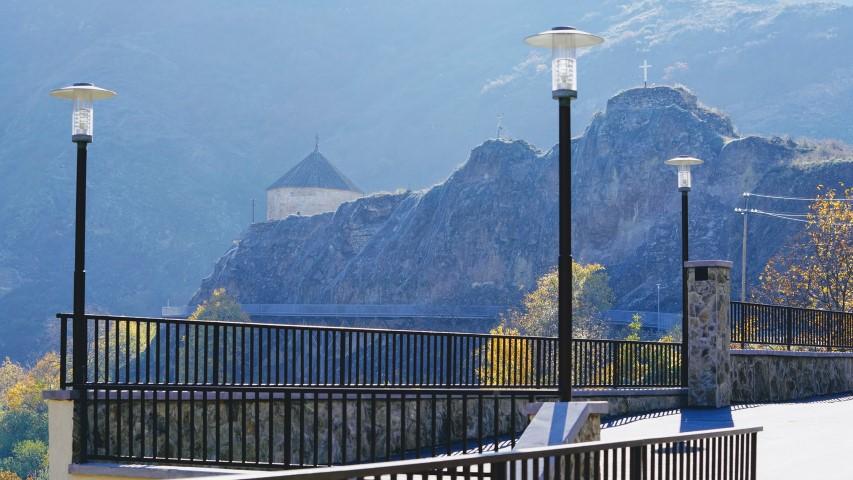 ატენში სიონის ტაძრის მიმდებარეს ტურისტული ინფრასტრუქტურის მოწყობა დასრულდა