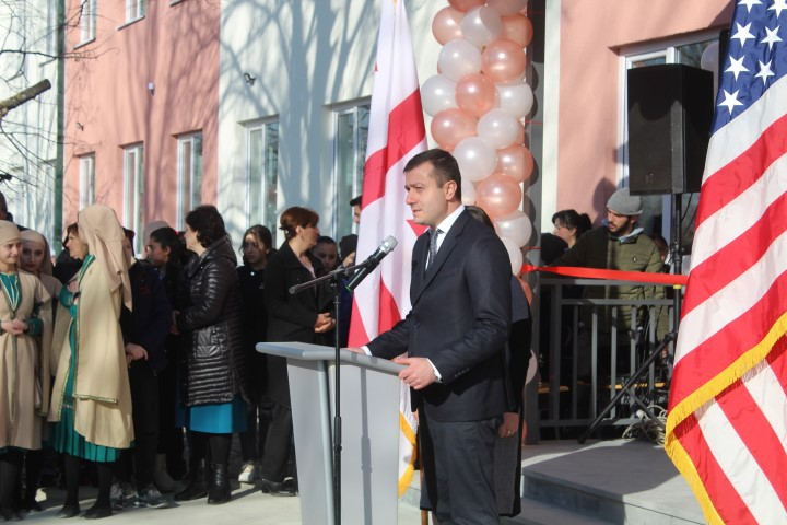 A School was Opened with the Support of the US Embassy in the Village of Kveshi Near the Occupation Line