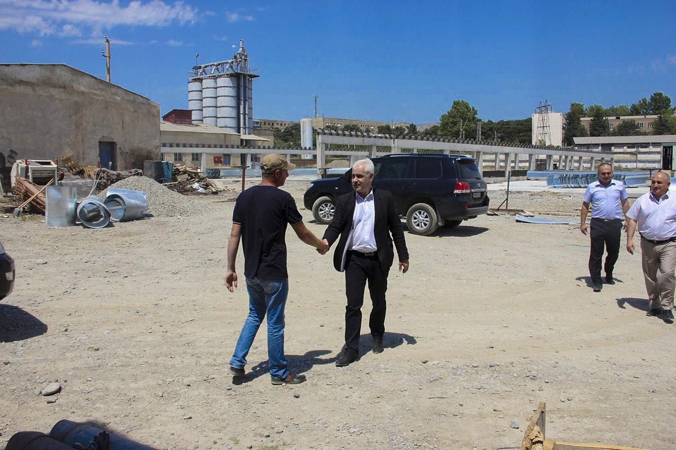 კასპის მუნიციპალიტეტში ხორციელდება ახალი საწარმოს მშენებლობა, სადაც მოხდება ბიოსასუქის წარმოება