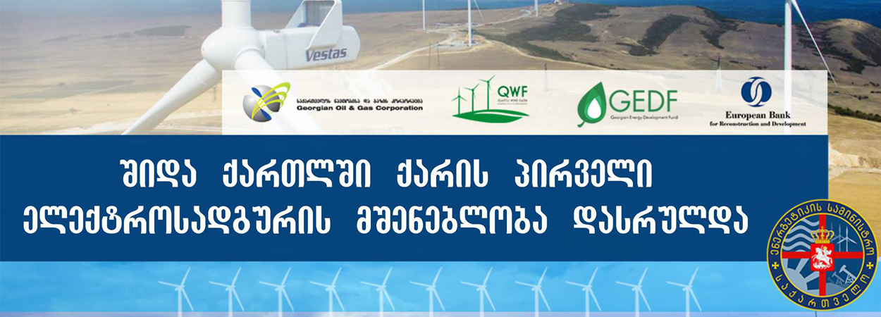 Construction of the wind power plant is completed in Shida Kartli